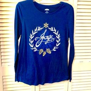 Women's Holiday Time long sleeve shirt size 8-10